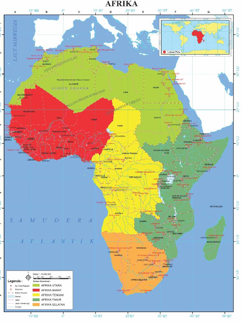 Letak Geografis Benua Afrika : letak, geografis, benua, afrika, Letak, Benua, Lainnya, Dunia