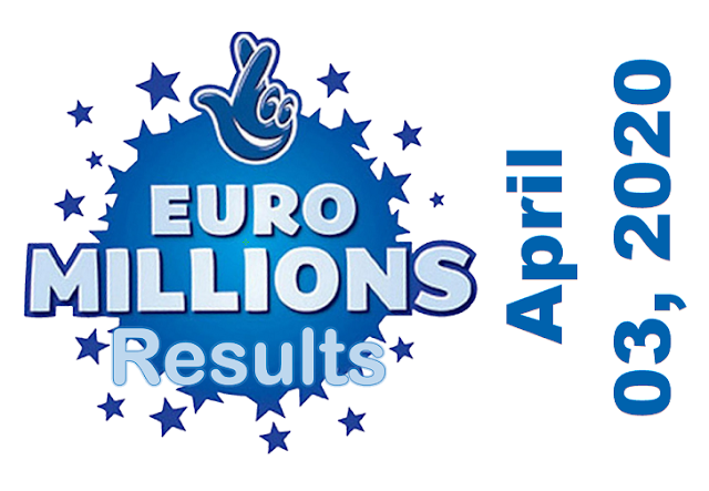 EuroMillions Results for Friday, April 03, 2020