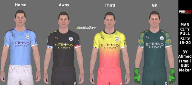 ultigamerz: PES 2017 Manchester City 2019-20 Full Kits