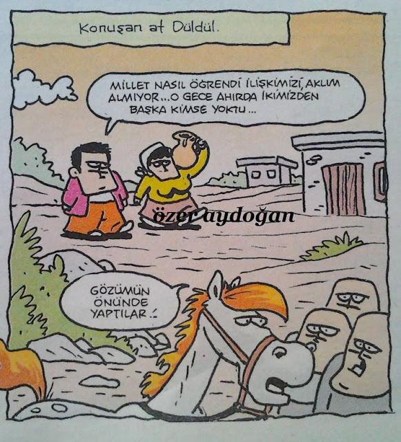 konuşan at düldül karikatürü