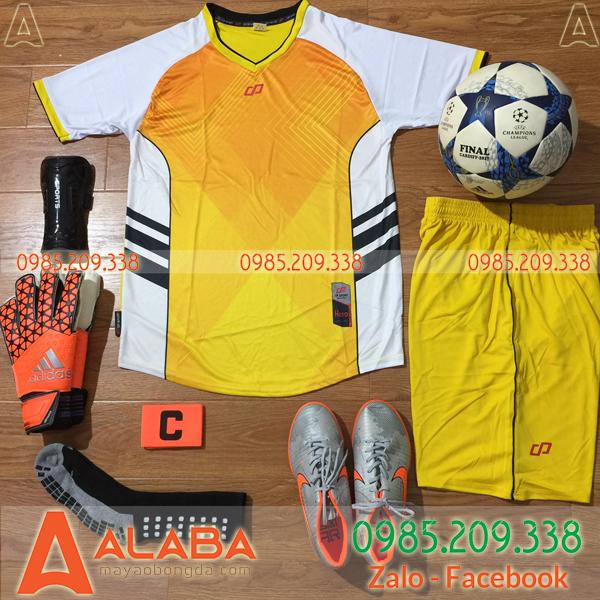 Áo bóng đá cao cấp màu vàng