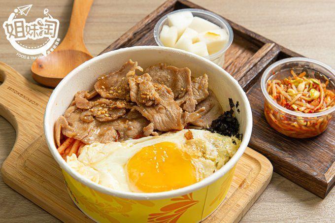 韓棒棒-平價韓式烤肉飯在此!醬燒豬肉選用台灣豬,韓式小菜正宗道地好滋味!