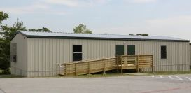 Modular locker room and shower trailers for special events