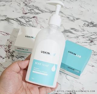 Review USKINLAB Body Soap Moisture Brightening Collagen