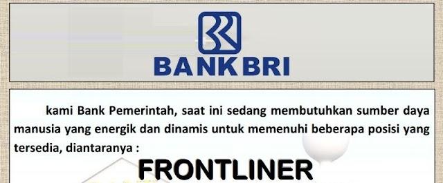 Lowongan Kerja - Frontliner - PT Bank Rakyat Indonesia