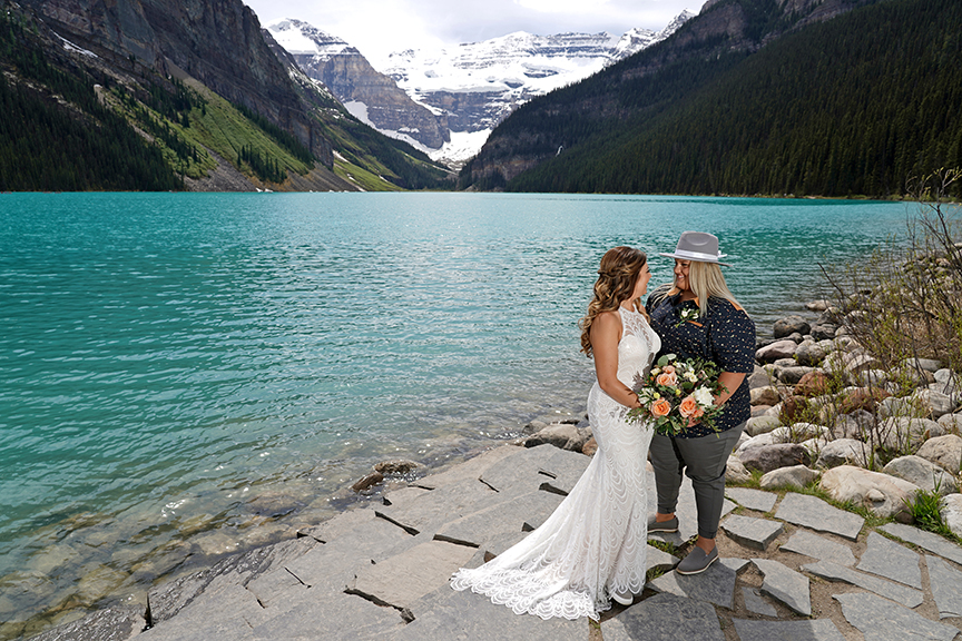 Fun Elopement in Lake Louise