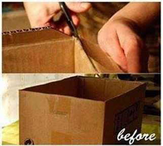 DIY  Cara Buat Kotak Simpan Barang