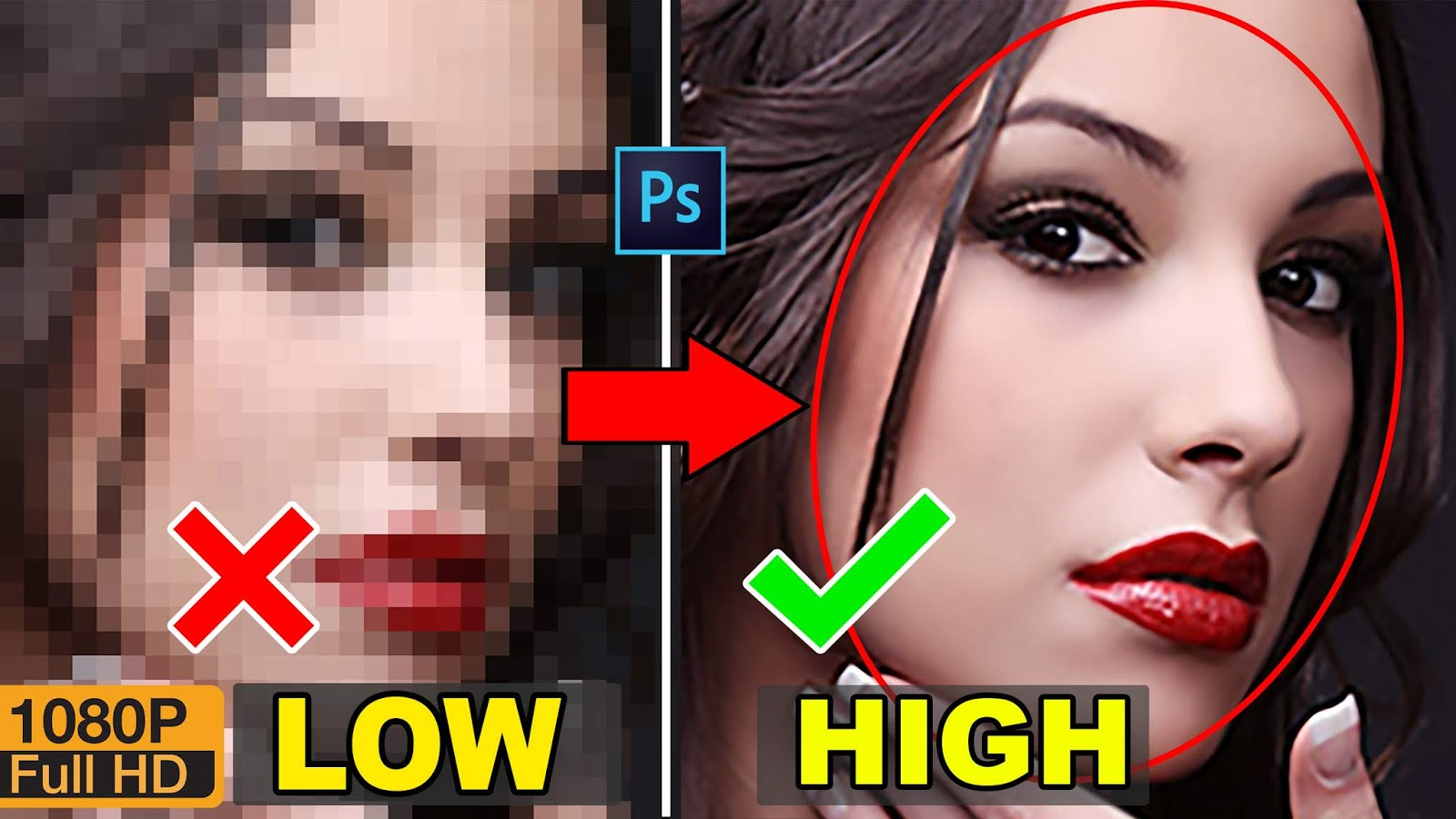 how to convert depixelate image and convert into high-quality