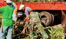 Peduli Lingkungan, Babinsa Jajaran Kodim 1420 Ajak Masyarakat Kerja Bakti