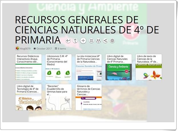 """""""8 Recursos Generales de CIENCIAS NATURALES de 4º de Primaria"""""""