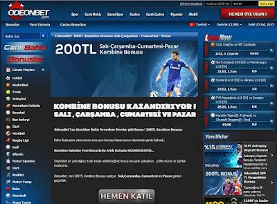 Odeonbet %100 Kombine200 bonusu tanıtımı