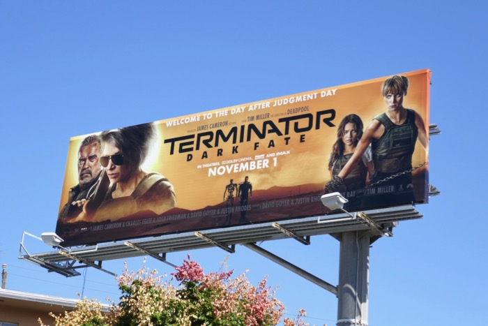 Terminator Dark Fate film billboard