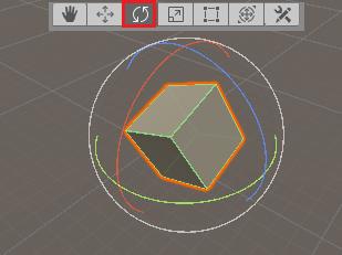 rotation tool in unity editor