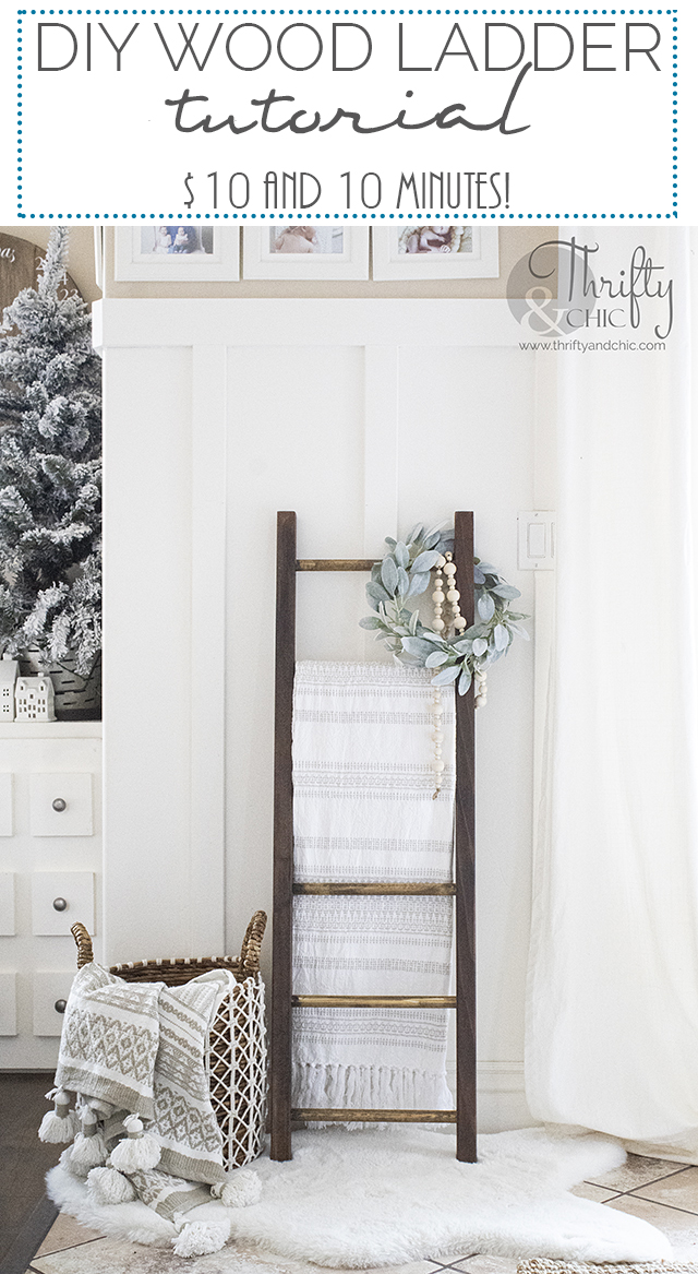 diy ladder tutorial. easy blanket ladder tutorial. how to make a blanket ladder. Decorate a ladder ideas. DIY wood ladder tutorial.
