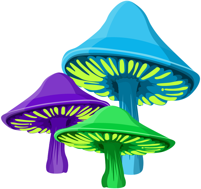 Alice Graphix Mushrooms