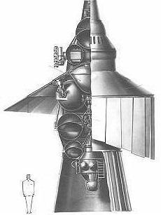 Spaccato della sonda Mars 5NM