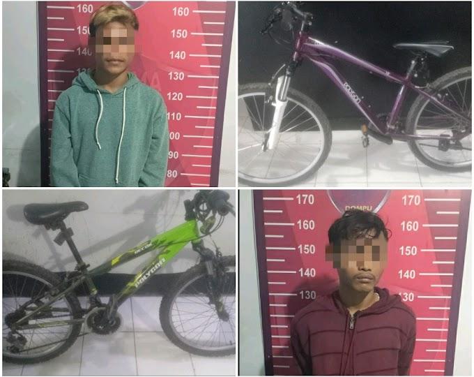 Dua Sepeda Polygon Digasak, Dua Pemuda Ini Digiring Ke Mapolres Dompu