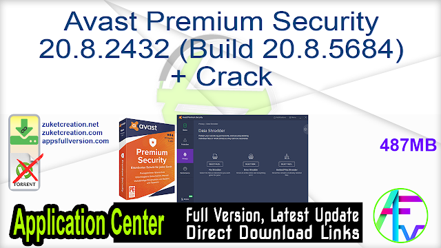 Avast Premium Security 20.8.2432 (Build 20.8.5684) + Crack