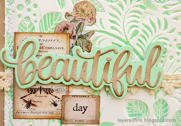 Layers of ink - Debossed Inked Card Set Tutorial by Anna-Karin Evaldsson. Made with Simon Says Stamp embossing folder and dies.
