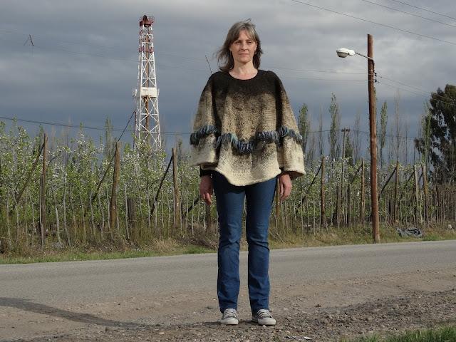 arte textil-arte contemporaneo-fotoperformance-patagonia-tejido- Laura Mozzi