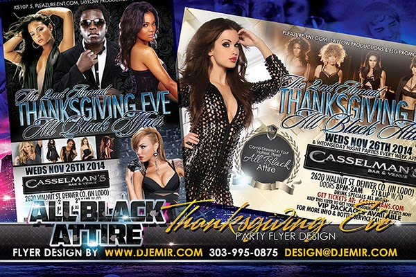 All Black Attire Thanksgiving Eve Party Denver Colorado Flyer