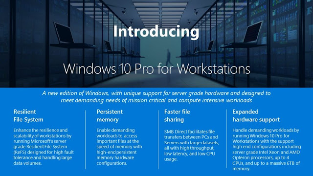 Microsoft announces Windows 10 Pro for Workstations: Set to release with Fall Creators Update