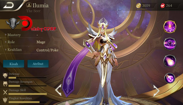 Arena of Valor : Hero Ilumia ( The Seer ) High Damage Builds Set up Gear