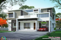 Box Type Flat Roof Home Arch - Kerala Design And