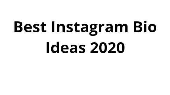 Best Instagram Bio Ideas In 2020 For You