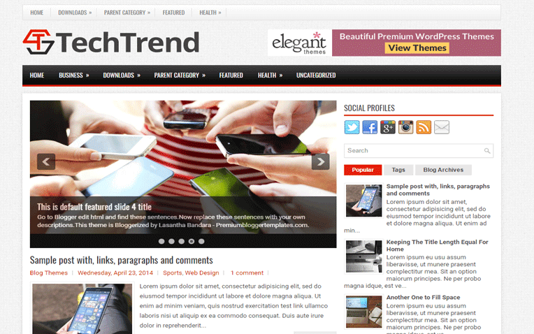 TechTrend Free Blogger Template
