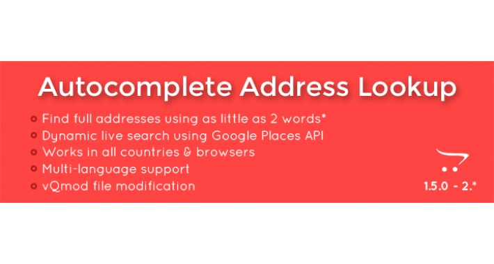 Autocomplete Address Lookup - Multi country address auto