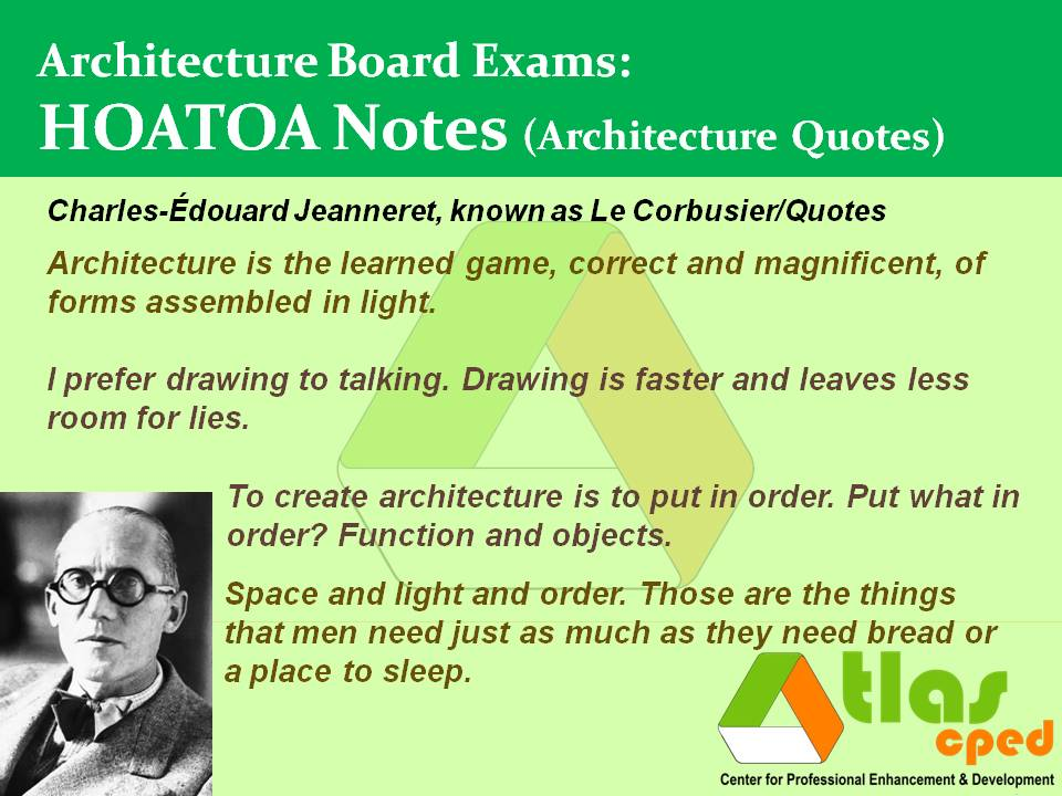 Architecture Quotes Atlas Cped