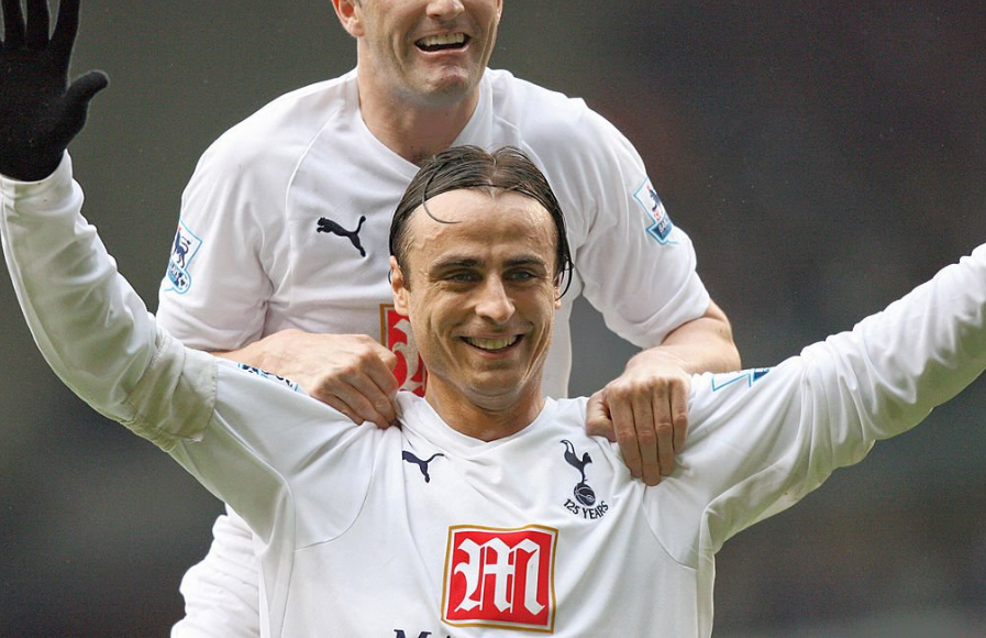 Former Tottenham spearhead Dimitar Berbatov celebrates goal