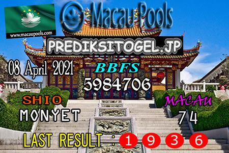 Prediksi Wangsit Togel Macau Kamis 08 April 2021