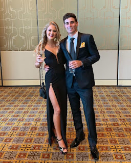 Joaquin Niemann With His Girlfriend Christina Hellema Puga Dressed Up For The Presidents Cup