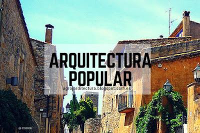 También llamada arquitectura tradicional, es la respuesta a las condiciones climáticas y culturales de cada región o país, etc