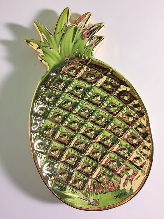 rue21 Pineapple trinket dish
