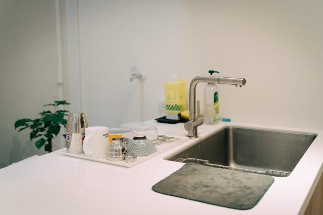 tower極簡瀝水盤(白) 山崎Yamazaki 廚房收納 瀝水面積大