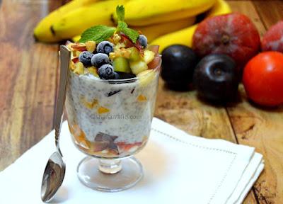Basil & Chia Seeds Yogurt Fruit Parfait