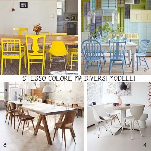 Tavolo Con Sedie Colorate.Scegli Le Sedie Arredamento Facile