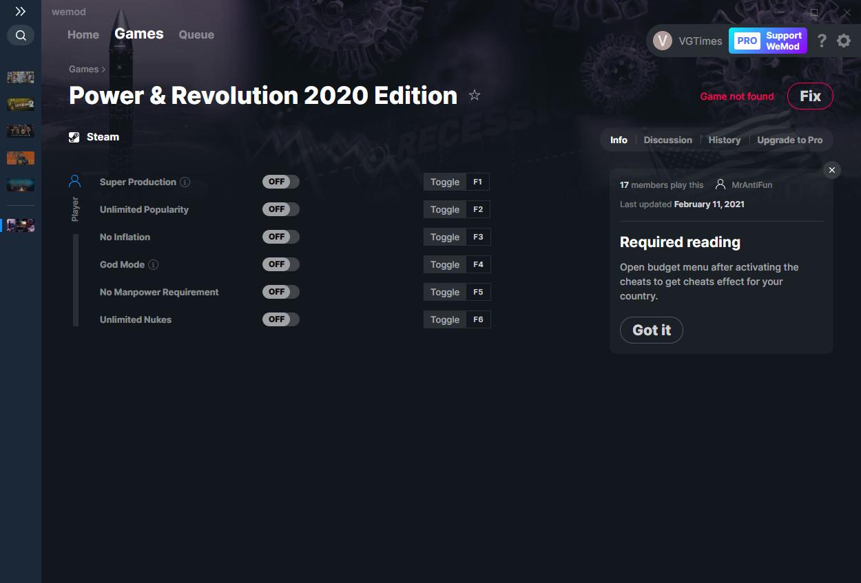 Power & Revolution: Trainer (+6) from 02/11/2021 [WeMod]
