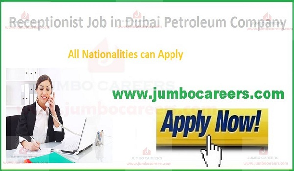 Job openings in Dubai for receptionist,