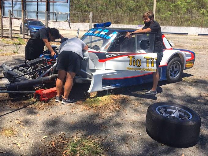 Marcio y Raúl Cunqueiro realizaron los primeros ensayos del año en el autódromo.
