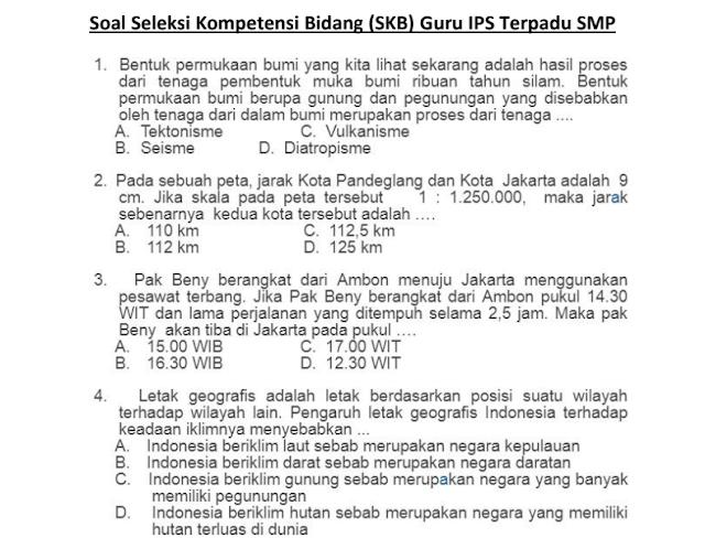 Materi Soal SKB Guru IPS SMP CPNS 2020 (Seleksi Kompetensi Bidang)