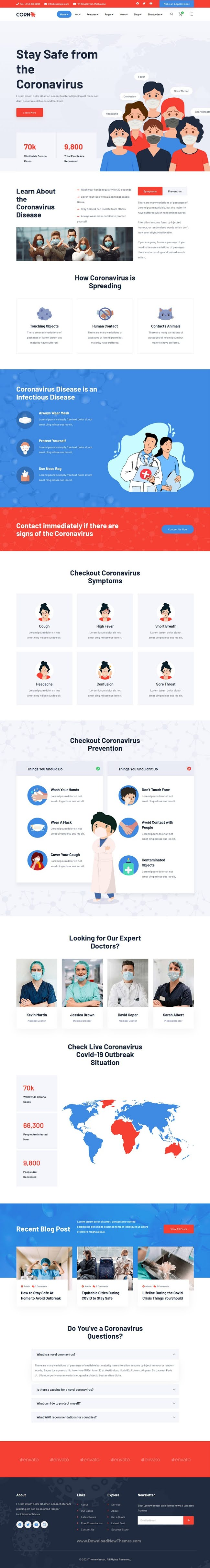 Medical Prevention Bootstrap Template