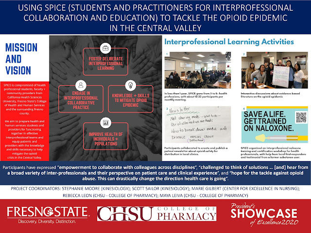 2020 Fresno State President's Showcase of Excellence Poster Presentation
