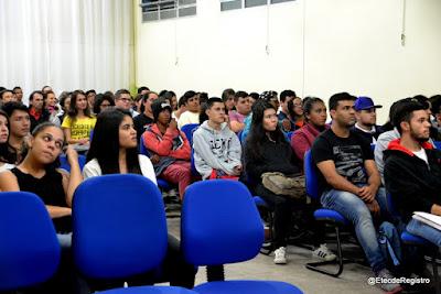 Etec de Registro-SP, realizou palestra sobre Administração do Tempo