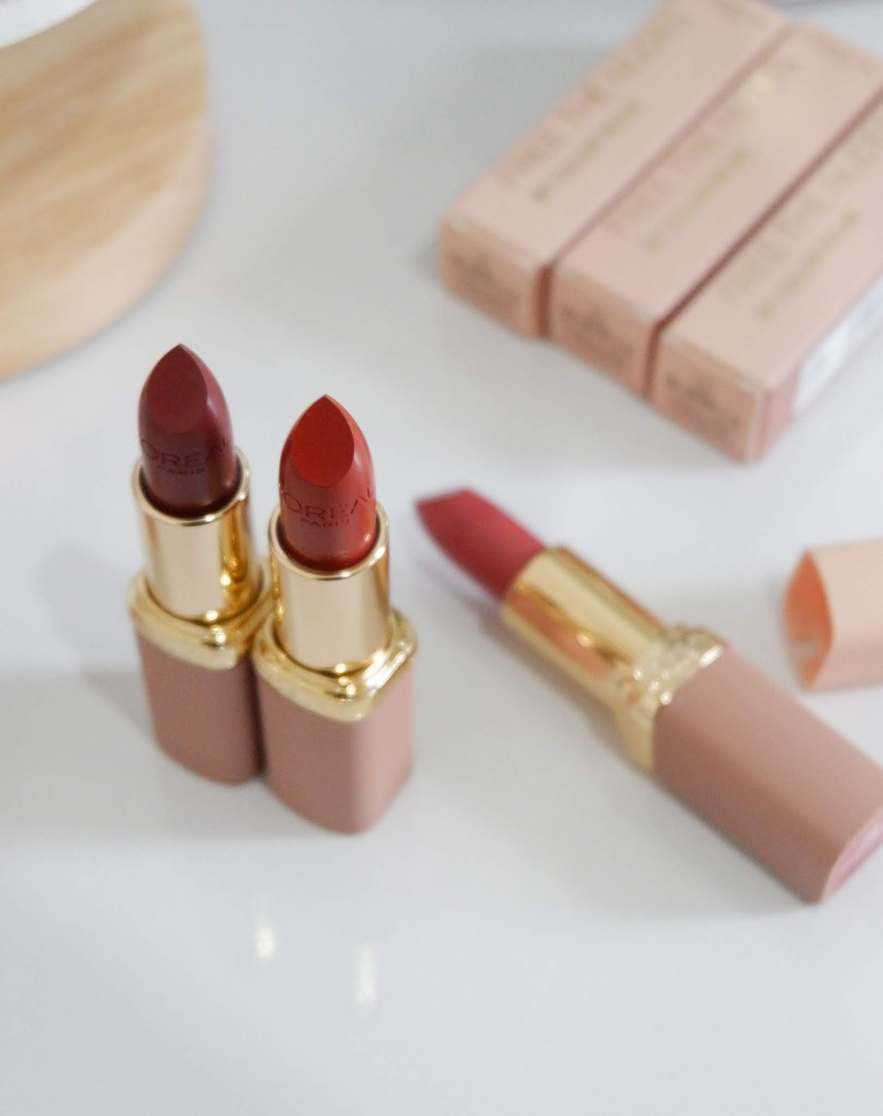 LOREAL PH COLOR RICHE FREE THE NUDES SWATCHES