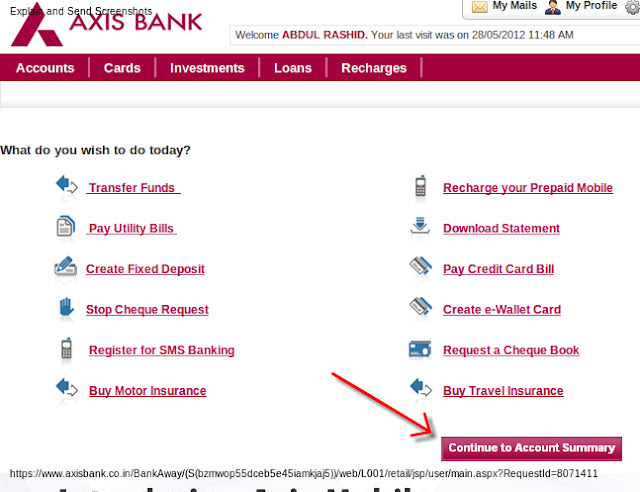 Axis forex card balance check online