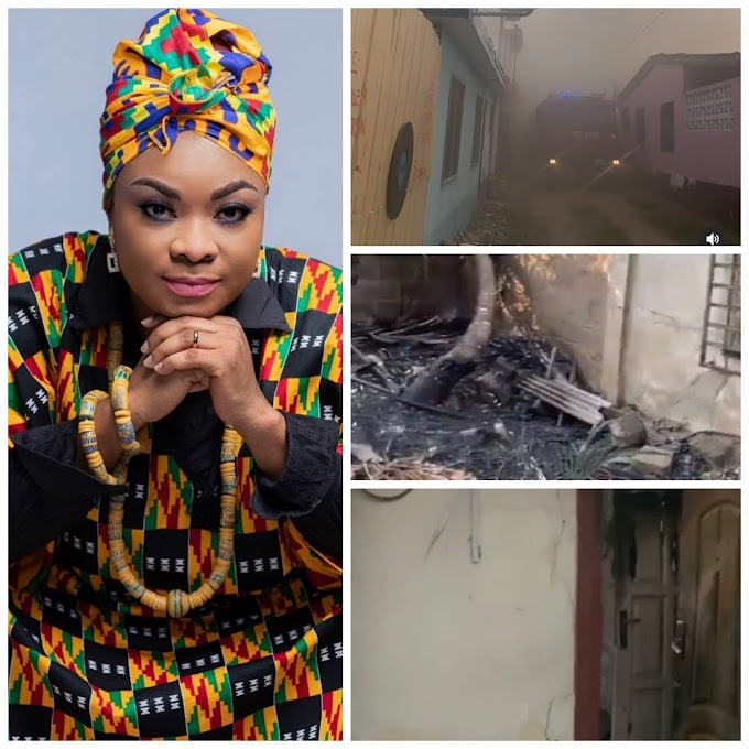 Ghanaian actress Beverly Afaglo's House Burnt; Loses Everything